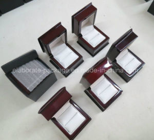 Doos van de Ring van de Gift van het Huwelijk van de luxe de Houten