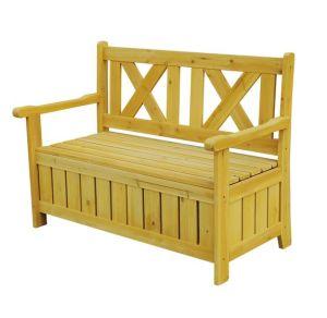 ブラウンの木の屋外の記憶のベンチ