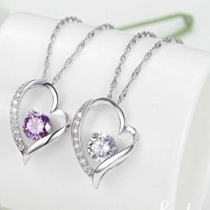 Monili Pendant dell'argento sterlina della collana 925 di figura del cuore dei monili di modo