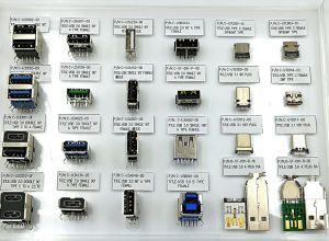 Conector Fêmea do tipo C USB2.0, durabilidade: 10, 000 ciclos, transmissão de dados: 480m/s. Corrente nominal: 3A Max. Material da Shell: SUS304plástico: UL94-V0.