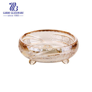 Kom de van uitstekende kwaliteit van het Suikergoed van het Glas met de Kleur van de Nevel (gb2078xty-DDA)