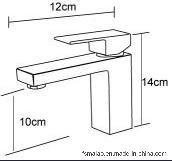 衛生製品の透かし及びWelsの単一のレバーの正方形の真鍮の洗面器のミキサーTapware (HD4203)