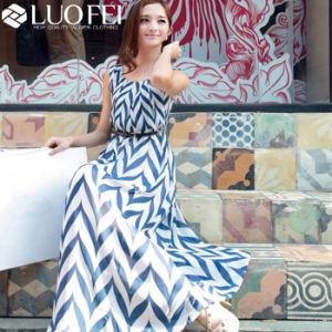2019 bustier Chevron Maxi Lady mousseline robe de plage