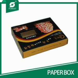 Querstreifen-oberster gewölbter Fleischverpackung-Papierkasten mit Fenster