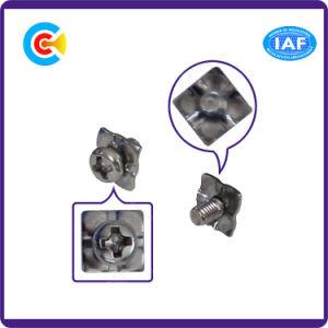 DIN/ANSI/BS/JIS kolen-staal/4.8/8.8/10.9 de Dwars Vierkante Schroeven Van roestvrij staal van de Combinatie van het Stootkussen voor de Bouw/Spoorweg