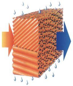 Rilievo di raffreddamento per evaporazione per colore del Brown di ventilazione del pollame