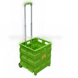 L'alta qualità della molla Multi-Usa il carrello di acquisto di plastica verde