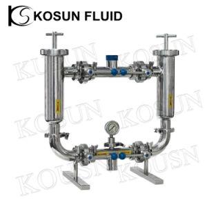Korb-Rohr-Rohrleitung feinmaschiges Inline-y des Edelstahl-SS tippen gesundheitliche Zeile Duplexfilter-Grobfilter für Saft-Wein-Bier-Milch-Molkerei ein