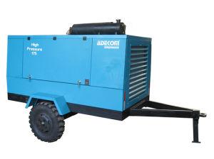이동할 수 있는 바퀴 디젤 엔진 고압 휴대용 나사 압축기 (PUD17-13)