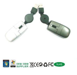 Verdrahtete Minimaus mit einziehbarem Kabel (MS3024)