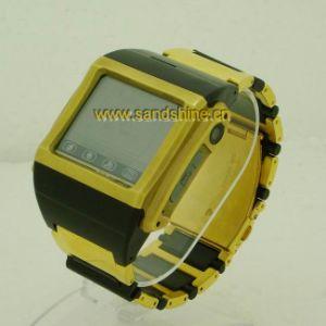 実質クォードバンドステンレス鋼の防水腕時計の携帯電話(W600)