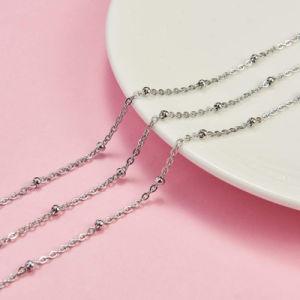 Commerce de gros Vente chaude plaqué or 18K Cut Rolo lien ronde Collier de perles Bijoux pour la conception