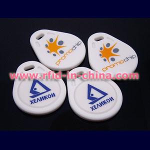 Slimme RFID Zeer belangrijke Fobs met Afgedrukt Embleem