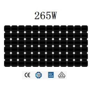 265Wモノクリスタル太陽電池パネル(JHM265M-72)