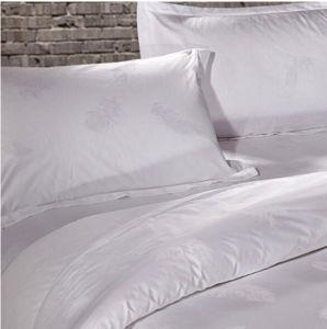 Venda por grosso de algodão branco luxuoso hotel de cama Jacquard (DPF201503)