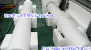 1000-2000 mm Long Large Caliber Milky White Quartz Tube