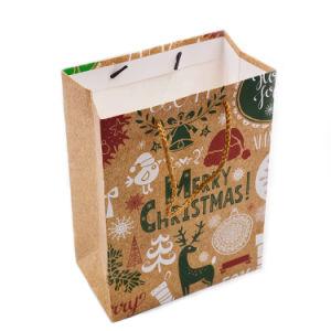 Bolsa de compras personalizado al por mayor barato bolsa de regalo papel ¡Feliz Navidad!