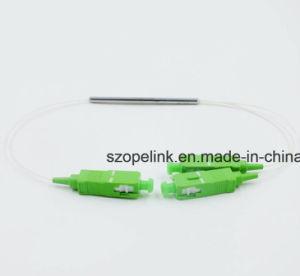 1X2 0.9mm Sc/APCの鋼鉄管の小型光ファイバFbtのカプラー