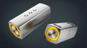 금속 덮개 번쩍이는 파란 빛을%s 가진 최고 베이스 옥외 Bluetooth 스피커