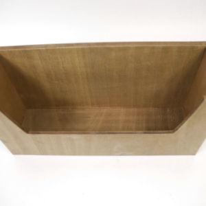 Écologique fr71 la norme ASTM cuvette en verre en bois Panier