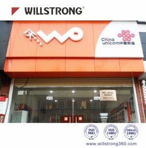 Einzelhandelsgeschäft-Zeichen-Vorstand Shopfront dekoratives Panel-zusammengesetztes Aluminiummaterial