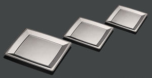 Partie rectangulaire en plastique dur Silver Plaque de revêtement