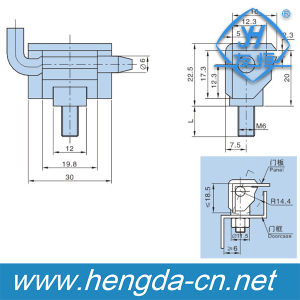 Las máquinas herramientas Maquinaria Industrial de bloqueo de 180 grados de bisagra (YH9322)