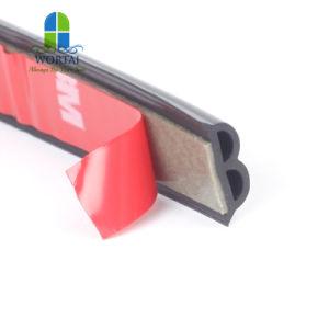 Forma B de la ventana de la puerta de coche tira de la junta de goma resistente al agua