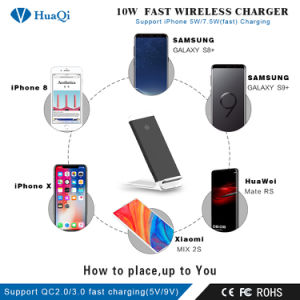 Stand 10W Slim Fast Qi Wireless cargador de móvil para iPhone/Samsung o Nokia y Motorola/Sony/Huawei/Xiaomi