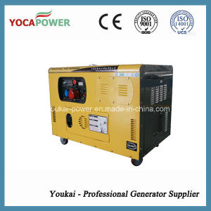 Три этапа 10 квт с водяным охлаждением портативный дизельный Silent генераторной установки