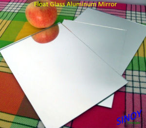 China Waterproof 1.1mm tot 6mm Silver Coated Float Glass Mirror, Max Size 2440 X 3660mm