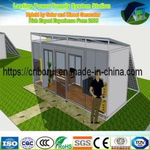 태양 전지판 에너지와 디젤 엔진 발전기를 사용하는 잡종 전원 시스템