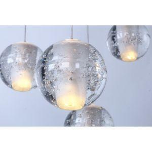 Kristallhelle zeitgenössische hängende Lampe der Bocci Kugel-hängende Treppen-LED