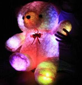 LED brillant Clorful Ours en peluche Jouet souple