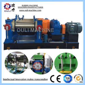 Резиновые двух рулонов резиновые заслонки смешения воздушных потоков мельница, открытого типа машины мельницы заслонки смешения воздушных потоков