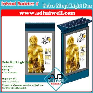 Mupi Caja de luz LED verde de la pantalla de publicidad de la solución de Energía Solar