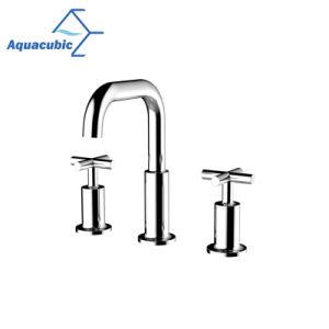 3つの穴の浴室の真鍮の洗面台の水栓(AF8180-6)