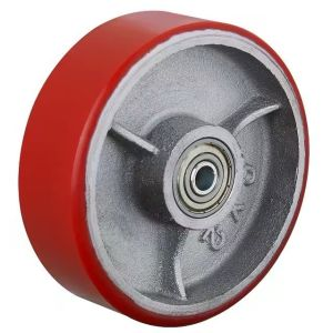 Serviço Pesado 8 polegada PU núcleo de ferro para rodas dianteiras