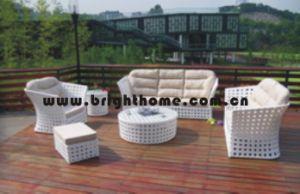 藤のソファーの柳細工の庭の家具Bp837