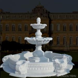 Natureza escultura de pedra mármore Jardim Chafariz de estátuas decorativas