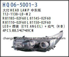 Toyota Corolla米国バージョン/中東バージョン2014 OEM# 81110-02e60/81150-02e60のための自動車の付属品のヘッドランプ