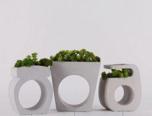 Простой цемента Flower Pot