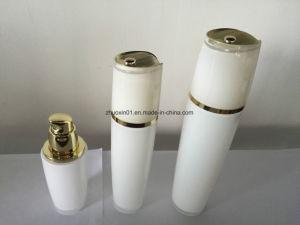Perlen-weiße doppel-wandige Plastikacrylflasche für Haut-Sorgfalt