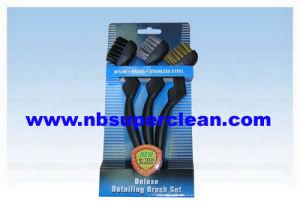 Insieme di spazzola industriale d'acciaio d'ottone di nylon del lavaggio di automobile, spazzola di pulizia automatica della rotella della ruggine (CN1827)