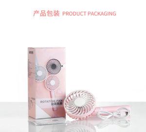 Tête rotative de poche portable USB Rechargeable pratique Mini ventilateur de refroidissement
