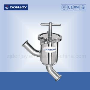 Санитарные Ss 304 сварной угол тип фильтра с силиконовой прокладкой