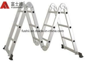 ladder van de Uitbreiding van de Scharnier van het Aluminium van 4.7m de Multifunctionele Gezamenlijke Vouwbare