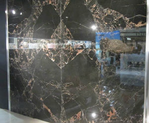 Nieuwe Zwarte Marmeren Plak Portoro voor Muur (Netwerk Portoro) - (yy-NM001)