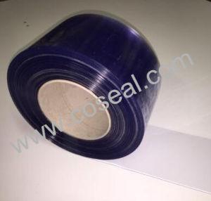 Strato molle chiaro blu glassato del PVC della plastica