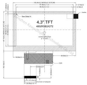 Het Comité LCD van Innolux van 4.3 Duim voor Medische Apparatuur